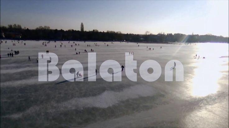 Frozen Balaton (befagyott balaton) 2017   drone video