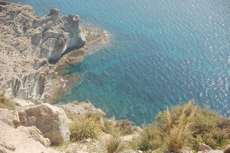 Tropical landscape from volcanic origins in the Cabo de Gata