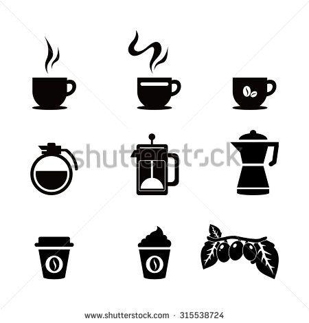 Coffee icons - stock vector