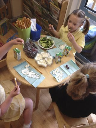 """Snack area - Alistair says that Halton Lodge have a small but perfectly formed snack area with a 'Have a go if you want to' waiting area with levelled challenges in it ("""",)"""