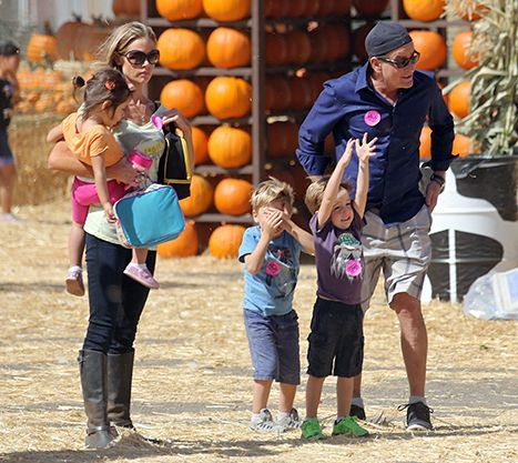 Charlie Sheen, Denise Richards Pumpkin Patch Outing With Kids: Pic - Us Weekly