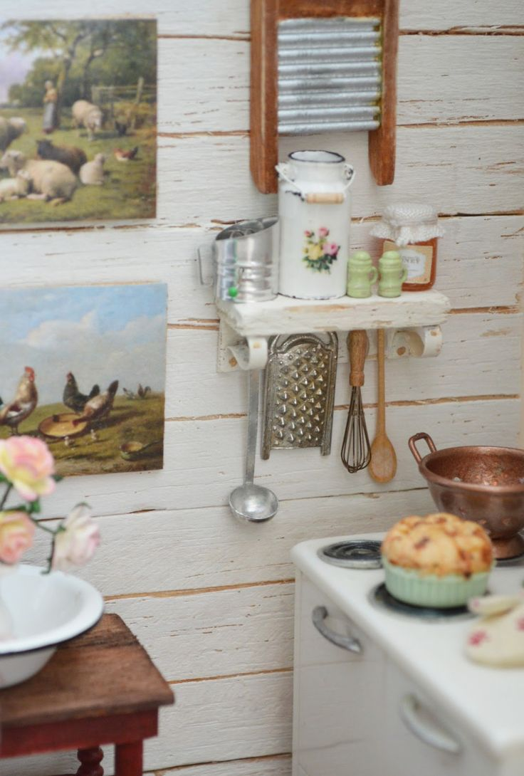 Miniature Dollhouse Kitchen Furniture 17 Best Images About Minis For Shabby Chic French Country And