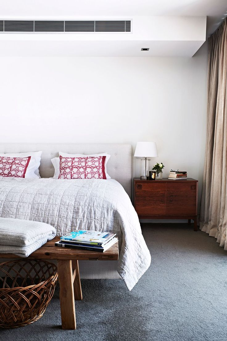 """The main bedroom and an accompanying ensuite and library area are located on the second level, which serves as a parents' retreat. **Bed** from [Designs For Living](http://www.designsforliving.com.au/