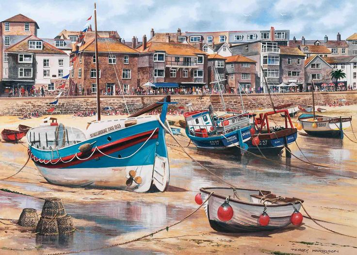 St-Ives by Terry Harrison 1000 piece jigsaw puzzle