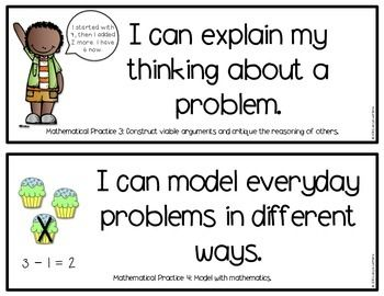 Mathematical Practices Posters - Child friendly language