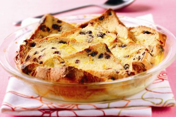 Hot cross bread and butter pudding recipe
