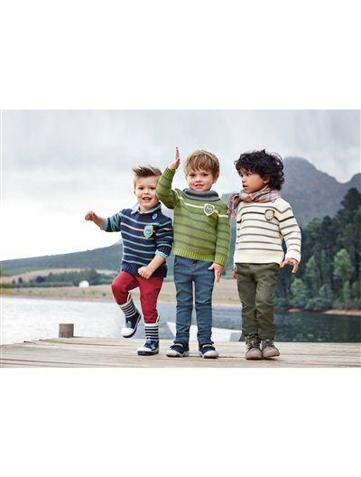 Jersey a rayas especial guardería - aprendemos solitos niño AZUL OSCURO A RAYAS+BEIGE CLARO A RAYAS+ROJO MEDIO A RAYAS+VERDE MEDIO A RAYAS