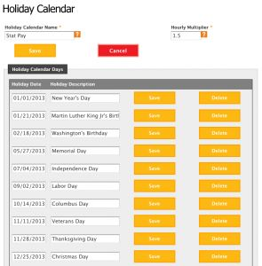 Calculating holiday pay is a pain for any manager or employer that chooses to offer it. TimeForge has a feature that easily allows you to track and calculate holiday pay for employees.