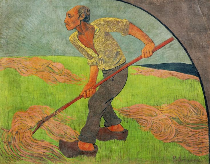 Paul Sérusier, The Haymaker, Homage to Van Gogh, 1892