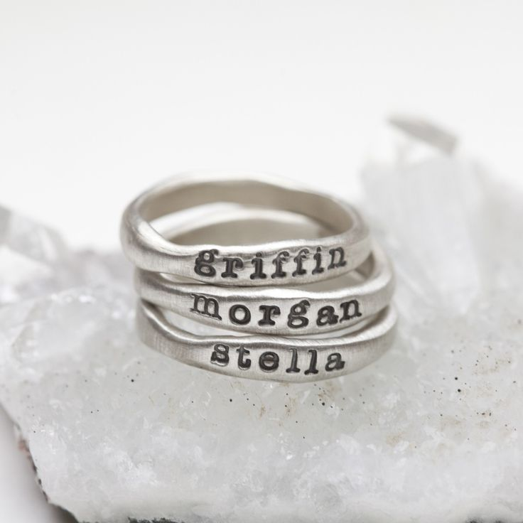 stacking name rings {sterling silver} and their meaning by Lisa Leonard