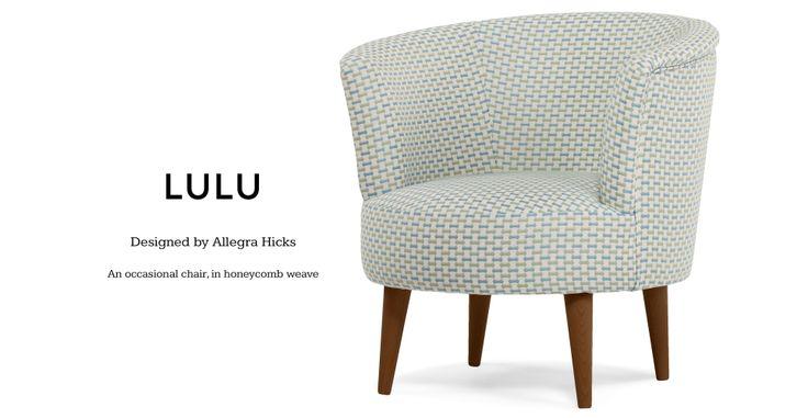Lulu Scoop Chair in honeycomb weave   made.com