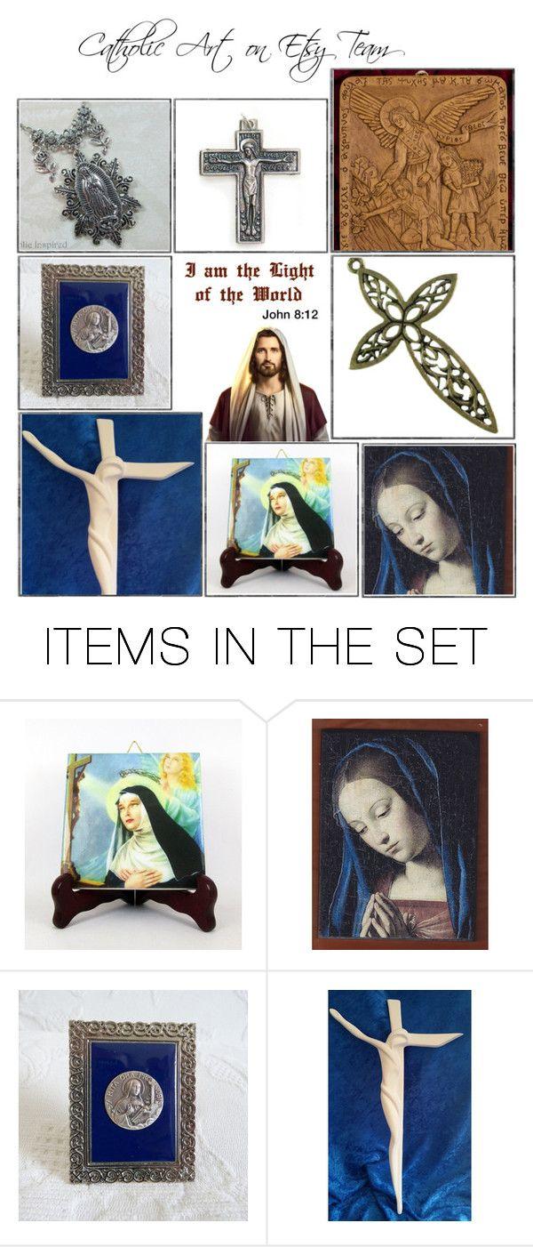 """Religious Art on Etsy by TerryTiles2014 - Volume 230"" by terrytiles2014 on Polyvore featuring arte, etsy, art, catholic e religious"