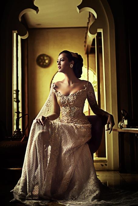 Anna Avantie. Love the embroidered neckline..