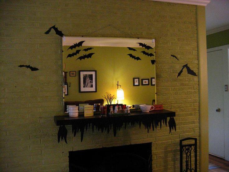 mantel decorations ideas inspirations halloween mantel - Halloween Mantel Ideas