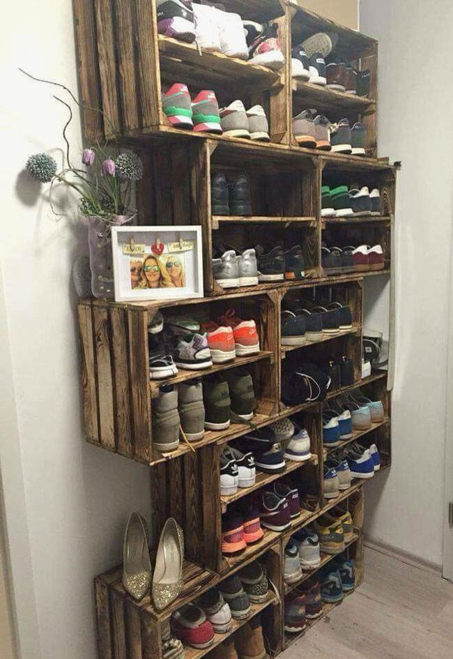Cool Diy Over The Door Shoe Organizer With Images Diy Shoe
