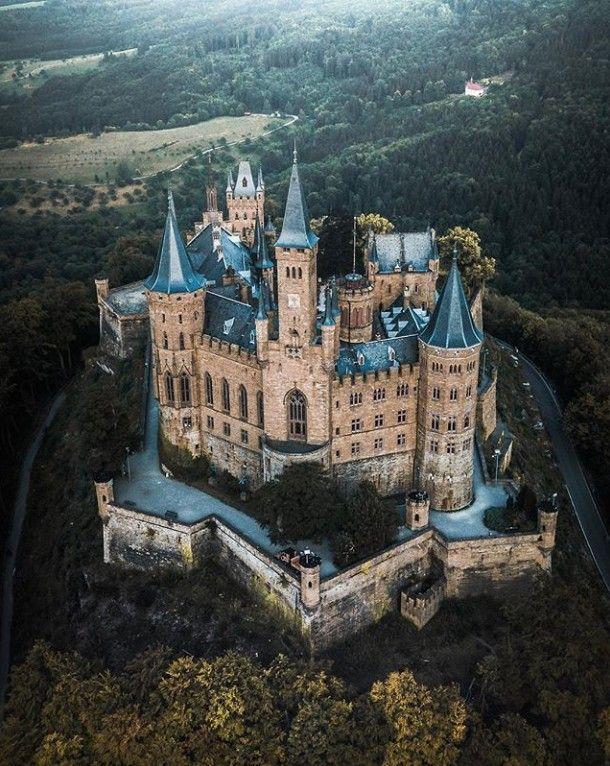 Burg Hohenzollern Chateaux Allemagne Le Manoir Chateau Fantastique