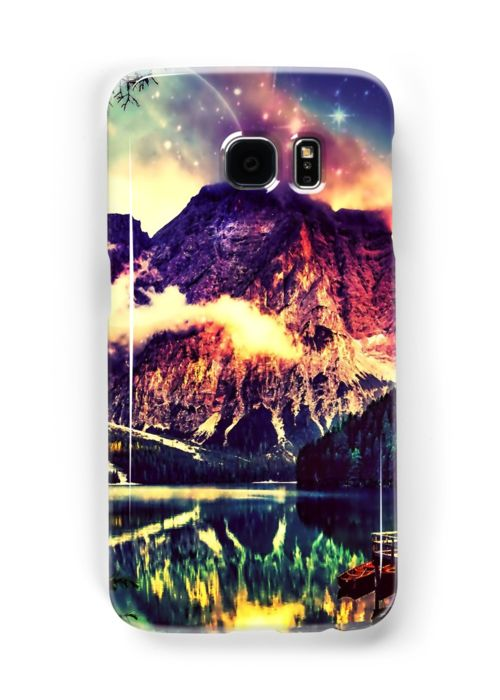 Night Sky at the lake • Also buy this artwork on phone cases, apparel, stickers, and more.