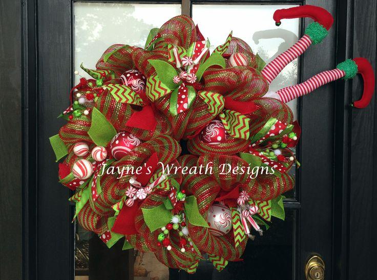 Whimsical Christmas Elf Wreath