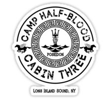 Percy Jackson - Camp Half-Blood - Cabin Three - Poseidon Sticker