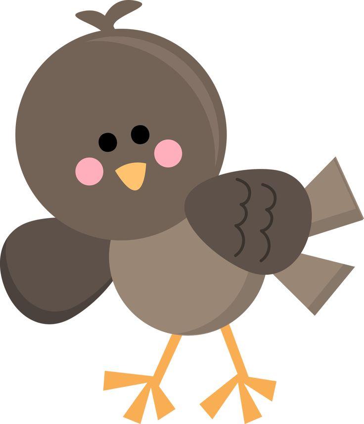 BROWN BIRD CLIP ART
