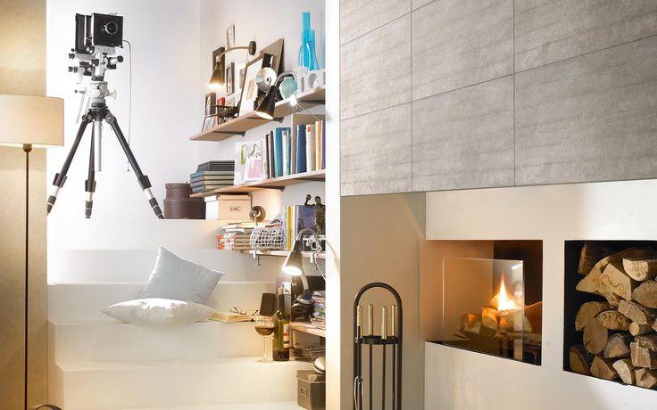Grohn Fliesen / Beton / #tiles #Fliesen #Wohnraum #Interieur / Rohe Betonwände sind nicht nur dem ultramodernen und kalten Penthouse-Loft vorbehalten. Die Serie Beton ist keinesfalls eine der unzähligen Cemento-Varianten, sondern wurde echten Betonböden und echter Betonschalung nachempfunden, nur eben mit den Vorteilen einer keramischen Fliese.