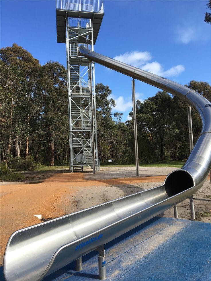 Super slide at Manjimup Timber Park