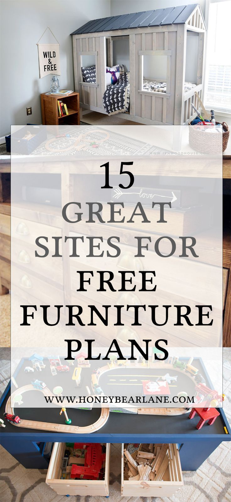 If you're looking to start building, getting furniture plans is a good idea. Here's a list of 15 awesome sites for free furniture building plans.