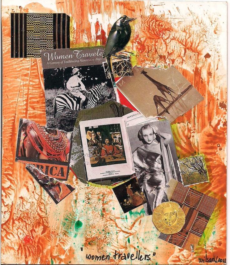 """Women Travelers"" handmade Mail Art Project (England) by Wilson Antonio (Brasil)"