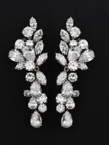 Diamond earrings belonging to  HSH Princess Grace