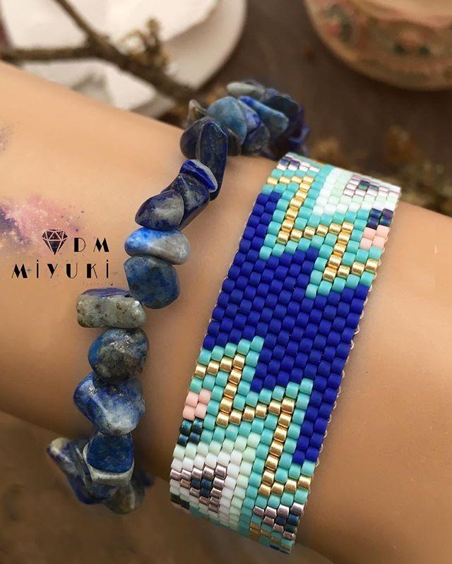 """""""Mavi """"diyorum Herkesin hayatında bir tane olmalı  • • • • • #miyuki #bileklik #jewelry #design #trend #love #style #happy #fashion #instalove #instagood #bracelet #beads #handmade #beautiful #beauty #takı #tasarim #elemeği #aksesuar #girls #instadaily #photooftheday #picoftheday #colorful#colors #gold #elemeği #art #accessories #taki"""