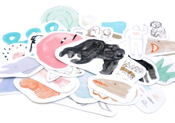 MIN PIN STICKERS by MinPinShop on Etsy