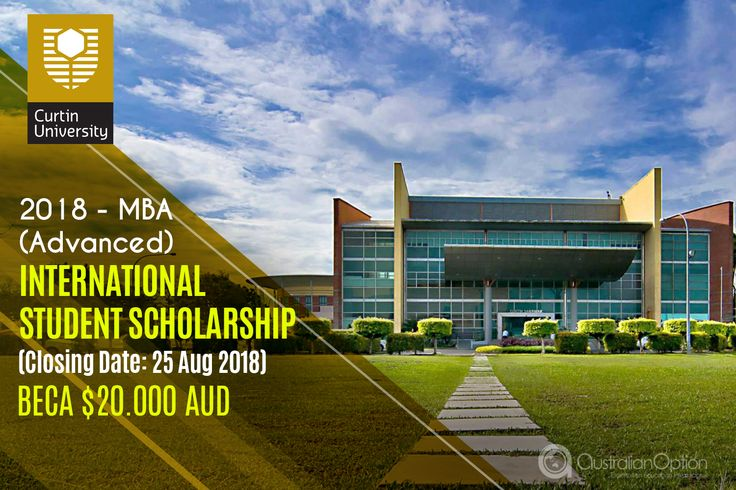 International Student Scholarship. Beca AUD $20.000