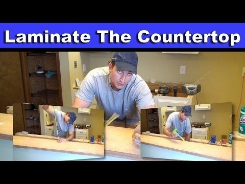 how to install sheet laminate on a countertop youtube kitchen remodel pinterest lighter. Black Bedroom Furniture Sets. Home Design Ideas