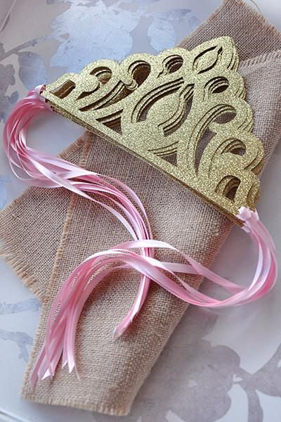 Pink and Gold Princess Crowns as Party FavorsOur Confetti Momma Glitter Gold…
