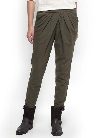MANGO Pantalones baggy pliegues