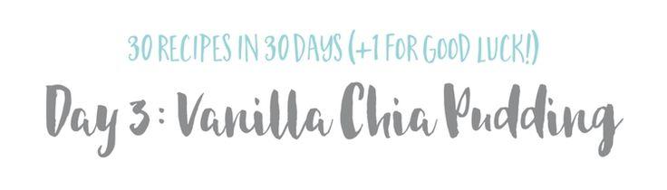 Vanilla Chia Pudding — The Wellness Collective