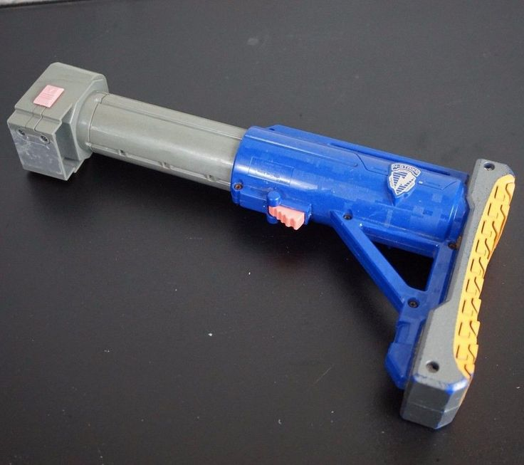 Nerf Recon Retaliator Spectre adjustable Blue Shoulder stock attachment