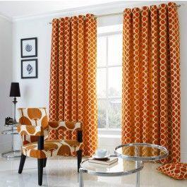 Oh Orange Eyelet Curtains