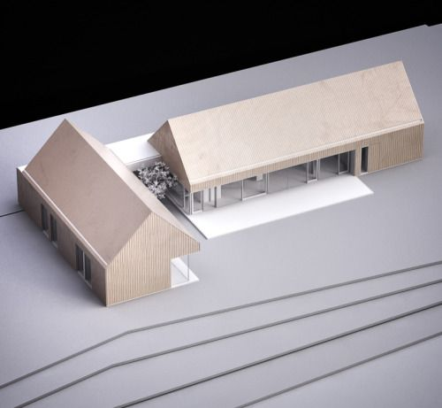 model architecture | barn house by mimo studio