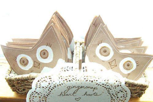 Owl treat bag: D I Y, Valentines, Diy'S, Owl Treat Bags, Valentine Owl, Needle, Nests, Owl Treats