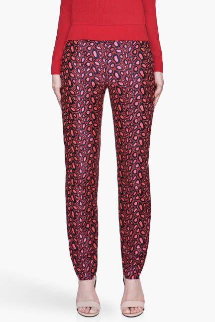 Leopard/abstract Leopard  Kenzo Leopard Print Trousers, $189 (on sale);  Read more: Womens Printed Pants - Designer Printed Pants Follow us: @ElleMagazine on Twitter | ellemagazine on Facebook Visit us at ELLE.com