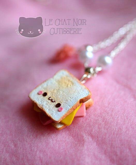 #kawaii #charms #polymer #clay #toast