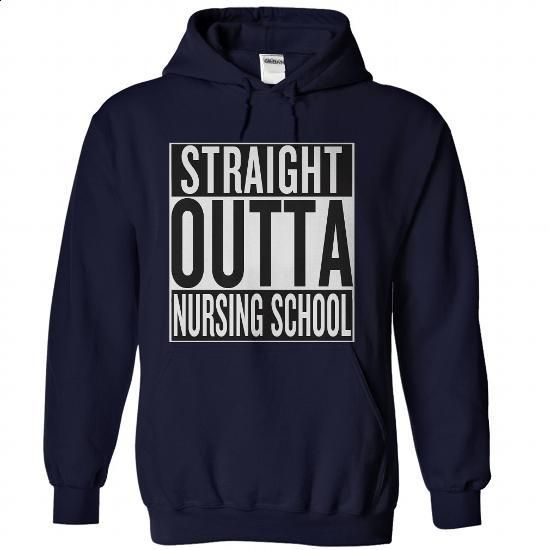 Straight Outta Nursing School - #tshirt #zip hoodie. GET YOURS => https://www.sunfrog.com/LifeStyle/Straight-Outta-Nursing-School-NavyBlue-Hoodie.html?60505