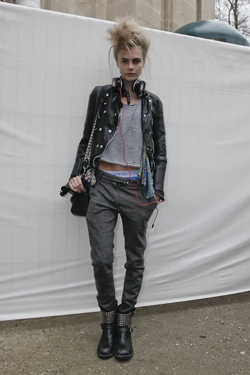 im gonna go for this look tomorrow cara delevigne punk look grunge style