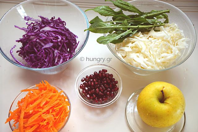 Apple 'n Cabbage Slaw, Λαχανοσαλάτα με Μήλο, Συνταγές για Λαχανοσαλάτα με Μήλο, Χριστουγεννιάτικες Σαλάτες, Εύκολη και Νόστιμη Σαλάτα