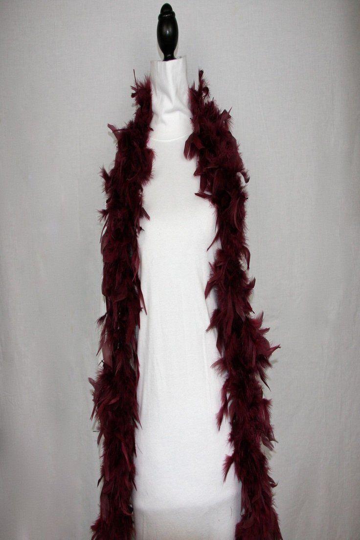 Dress Up Lowest Price MAROON Feather Boas Chandelle 6 Feet 60 grams Elegant