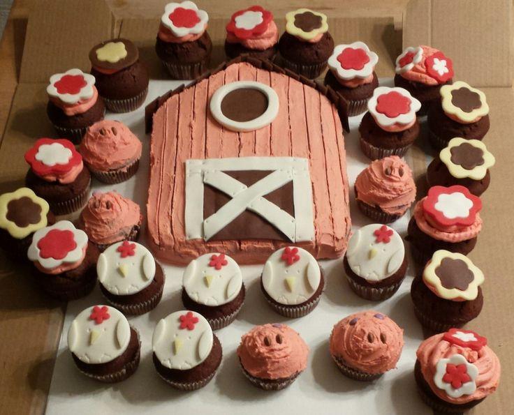Farming chocolate cupcakes ideas