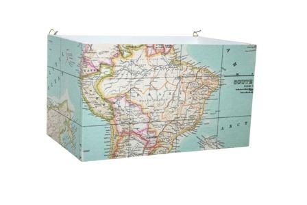 Wandlamp landkaart
