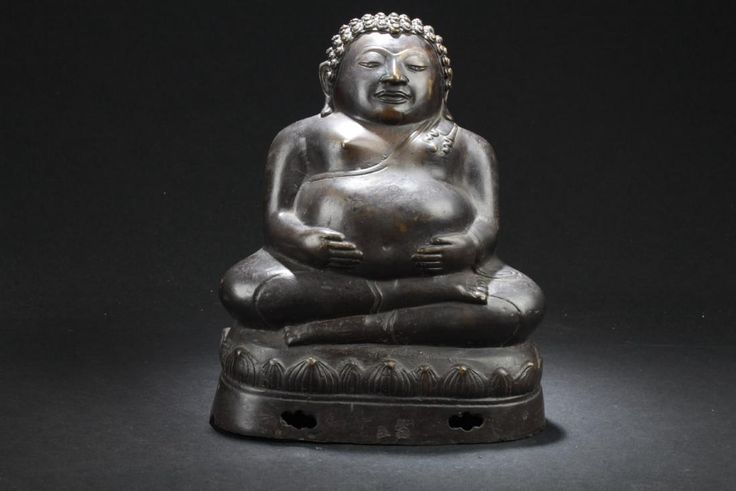 Lot: Antique Indian Buddha Statue, Lot Number: 0901, Starting Bid: $100, Auctioneer: Jumbo Auction House, Auction: Spring Fine Asian Works of Arts, Date: March 25th, 2017 CET