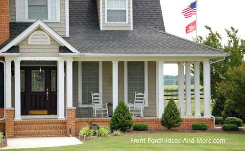 Country home designs wrap around porches silver metal for Wrap around porch cost